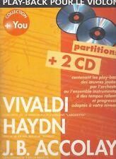Vivaldi - Play-back pour le violon - Livré avec 2 CD