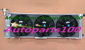 For Jeep Cherokee Radiator and fans XJ 94-01 Sport 4.0l 6Cly 3 Row alloy AT MT