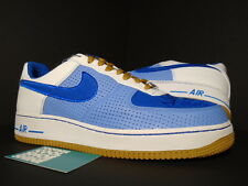 Nike Air Force 1 Premium '07 PHILLY DOWN NORTH UNIVERSITY BLUE WHITE GUM DS 10.5