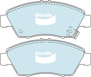 Brake Disc Pad Set Front Bendix DB1286 GCT For HONDA Civic CR-V Integra Jazz