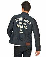 G-STAR RAW Rinsed Indigo Denim Izu Tailor Jean Jacket M Chain Stitch Embroidery