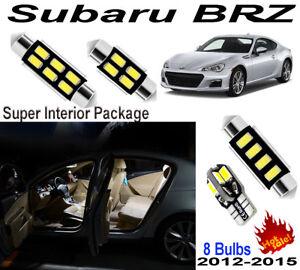 8 Bulbs Fit Subaru BRZ 2012-2015 Xenon White Lamps 5630 LED Interior Light Kit