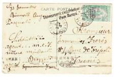 Middle Congo Sc#33(single frank)-MINDOULI 24/MARS/30-postcard view BRAZZAVILLE