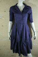 JACQUELINE RIU Taille 36 Superbe robe manches courtes violet prune dress