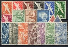 Coast Of Somali: Complete Set Of 19 Stamps P. A.New N°1/19 Side