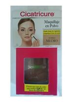 Cicatricure Makeup hides wrinkles MEDIUM  tone Maquillaje polvo TONO  MEDIO 10g