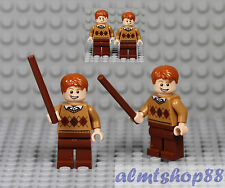LEGO Harry Potter - Fred & George Weasley Minifigures Custom Gryffindor 10217