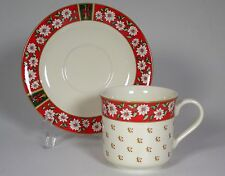 CHARLTON HALL KOBE CUP SAUCER SETS 4 LOTS JAPAN CHRISTMAS ROCKING HORSE