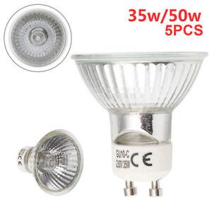 5 x GU10 50w or 35w Halogen spot light bulbs 220-240v- - Great Quality - SALE !!
