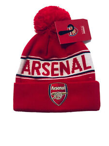 ARSENAL FOOTBALL CLUB OFFICIAL POMPOM BOBBLE BEANIE WOOLY HAT
