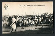 C1910 View of Somali Men Dancing, Djibouti