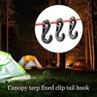 10pcs Camping Hook Tent Light Plastic Hook Canopy Tarp Clip Tail Hook Fixed L2H7