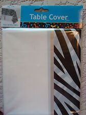 Zebra Striped Plastic Tablecloth; Safari Baby Shower; Kate Spade Birthday,  Decor