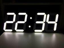 BIG Grande Orologio Digitale LED!!! GIGANTE!!! ENORME!!! 45 (W) 18.5 (H) con allarme non scrivania