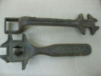 Pair Antique Farm Implement Plow Wrench Tool
