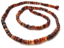 Genuine Raw Natural Baltic Amber  Necklace for Men 50 cm ,19.7 inch.