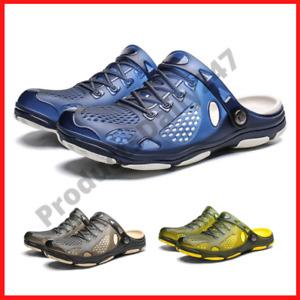 Men Slip On Garden Mules Clogs Shoes Sports Sandals Beach Water Slippers Shoe