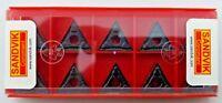 SANDVIK TNMG 332-PM / TNMG 160408-PM Grade 4225 Turning Carbide Inserts (10 Pcs)