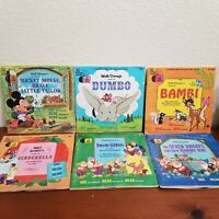 Vintage 1965-1968 Walt Disney Record And Book Read-Along Lot of 6 RARE 1960's