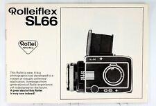 Original Rolleiflex SL66 Sales Brochure - 12 pages, printed in 1968