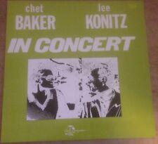 CHET BAKER*LEE KONITZ in concert 1982 US INDIA NAVIGATION VINYL LP