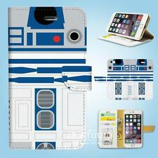 iPhone SE 6 6S 7 8 X Plus 5 5S 5C 4 4S Wallet Case Cover Star Wars R2D2 W087
