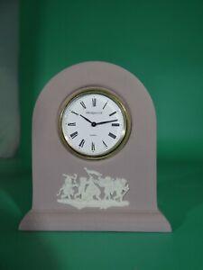 Wedgwood Jasperware Clock Lilac/Purple in Outstanding Condition