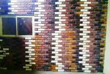 15- 8X2 ANTIQUE BRICK VENEER SIDE MOULDS FOR WALLS FLOORS PATIO MAKE FOR PENNIES