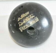 Original AMF Bowling-Kugel schwarz Dick Weber Powerball Vintage Fach E5