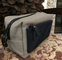 4f9780fa383e Men s Goodfellow   Co. Travel Toiletry Kit Bag Gray with Navy Pocket - NWT
