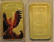 Somalia 2013 Goldplated Color Rectangular 25 shilling-Mystical Creatures-Phoenix