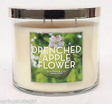 Bath & Body Works Slatkin & Co. DRENCHED APPLE FLOWER 3-Wick 14.5 oz Candle