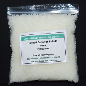 Refined White Pure Beeswax Pellets - 200 gms for polish depilatory and deptora