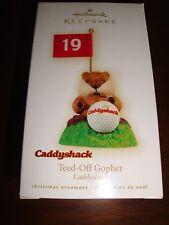 "Hallmark Keepsake Caddyshack ""Teed-off Gopher"" Christmas Ornament"