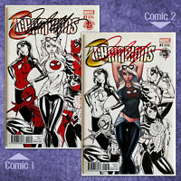 CHAMPIONS #1 DECOMIXADO VARIANTS (by J Scott Campbell) SIGNED COA'S SOLD-OUT !!!