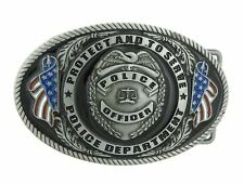 Police Officer Department Protect and Serve Belt Buckle