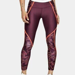 Under Armour HeatGear Edgelit Print Ankle Crop Level Purple Size XXL