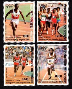 Olympic Niger 1984 set of stamps Mi#900-03 MNH CV=6.5€