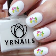Nail WRAPS Nail Art Water Transfers Decals - Tiny Hearts of Colour - S404