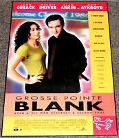 GROSSE POINTE BLANK 1997 ORIGINAL 19x27 MOVIE POSTER! MINNIE DRIVER CRIME COMEDY