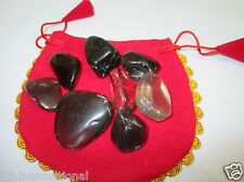 Dark Smokey Tumbled Stone 100 gm Healing Positive Energy Reiki Pouch Gift Aura