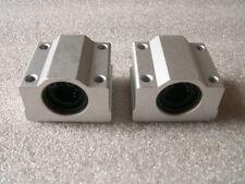 2 CNC linear slide guide Cylinder shaft 10mm rod SC10UU SCS10UU bearing blocks
