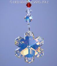 m/w Swarovski Snowflake Ornament Christmas Colors SunCatcher Lilli Heart Designs