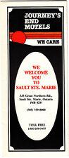 Journey's End Motels Sault Ste Marie Ontario Canada Vintage Brochure