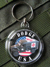 Porte clés - DODGE WC 54 AMBULANCE USA - WW2 medic militaria US INFIRMIER
