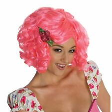 Adult Toy Dolls Strawberry Shortcake Raspberry Tart Pink Curl Hair Costume Wig