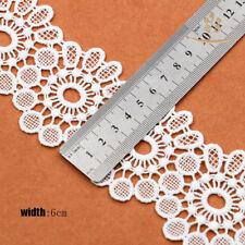 DIY Borde de encaje blanco de Algodón Vintage Boda Cinta de Malla Costura Craft