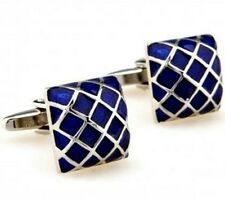 Silver Blue Ancient Chinese Emperor Cufflinks
