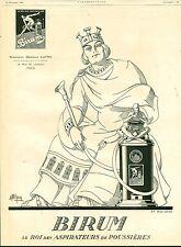 Publicité ancienne roi aspirateurs Birum issue du magazine de 1924 A. Wilquin