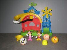 Jouet Maison/Ferme/Moulin avec Figurines  MICKEY - Minnie et animaux  (2)